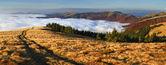 Herbstliche landschaft in den karpaten — Stockfoto