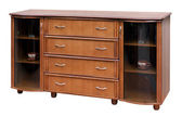 Wooden old stile bureau. — Stock Photo