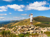 Thirsty hiker — Stock Photo