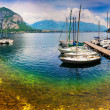 Yacht Club in the town of Limonta in Lake Lecco. — Stock Photo #51266991
