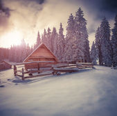 Old farm in the Carpathian mountains.  — Stock Photo