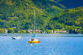 Lake Lugano from the town of San Vitale — Stock Photo