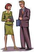 Couple businessmen — Stockvector