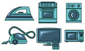 Icons of appliances — Stock Vector