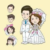 Cartone animato nozze — Vettoriale Stock