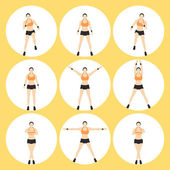 Woman Fitness Vector — Stock Vector