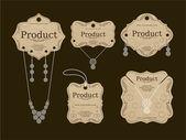 Biżuteria Tagi design — Wektor stockowy