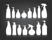 Kosmetika flaskan förpackningar vektor — Stockvektor