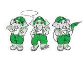 Elephant Mechanic Mascot — Stock Vector