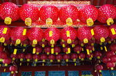 Lanterns in Chinese temple — Stock Photo