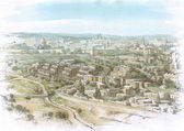Jeruzalém krajina — Stock fotografie