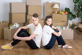 移动的房子 — 图库照片