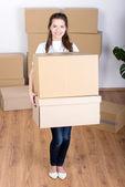 House Moving — Stock Photo