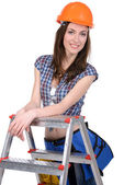строитель женского пола — Стоковое фото