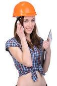 Female builder — Stock Photo
