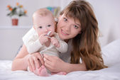 Baby and Mom — Stock Photo