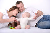 Baby And Parents — Stock Photo