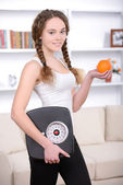 Fitness Home — Stock Photo