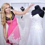 Buying Wedding Dress — Stock Photo #51164303