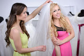 Buying Wedding Dress — Foto Stock