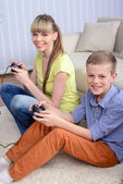 Mother And Son At Home — Stock Photo