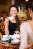 Woman in cafe — Stock Photo