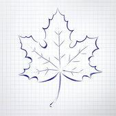 Autumn leaf. — Cтоковый вектор