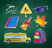 Back to school vector set — Stock Vector