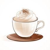 Cappuccino cup — Stock Vector