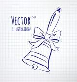 School bell — Stock Vector