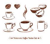 Watercolor coffee — Stock Vector
