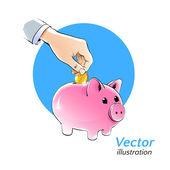 Money box. — Stock Vector