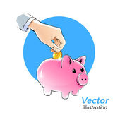 Money box. — Stock Vector