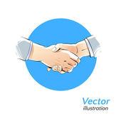 Illustration de la poignée de main. — Vecteur