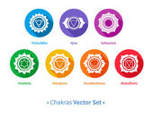 Chakras set. — Stock Vector