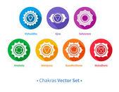 Chakras set. — Stock Vector