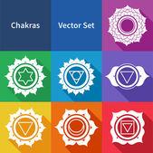 Chakras. Vector set. — Stock Vector