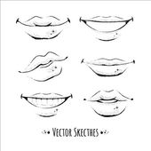 Smiles sketch — Stock Vector