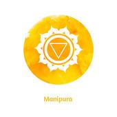 Manipura chakra — Stock Vector