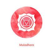Muladhara chakra — Stock Vector
