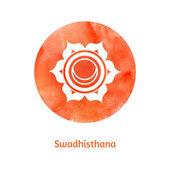 Swadhisthana chakra — Stock Vector