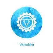 Vishuddha chakra. — Stock Vector