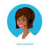 Call center operator — Stock Vector