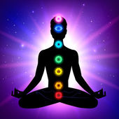 Meditation, aura and chakras — Vetorial Stock