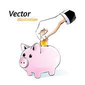 Money box — Stock Vector