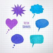 Colorful speech bubbles — Stock Vector