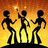 Dansande människor illustration — Stockvektor