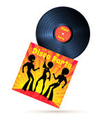 Vinyl record and cover — Stock Vector