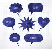 Ink speech bubbles — Stock Vector