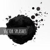 Inky halftone splashes — Stock Vector